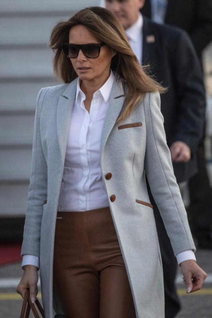 Melania Pulls Off This Fall Dress And Coat Combo Perfectly