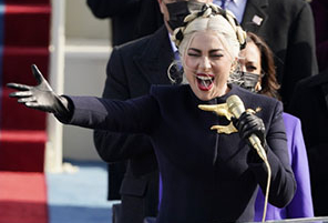 Lady Gaga Wows the Nation by Singing the National Anthem at Inauguration | InstantHub